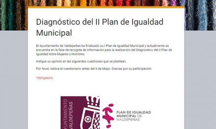Valdepeñas elabora una encuesta ciudadana para realizar el diagnóstico del II Plan de Igualdad Municipal