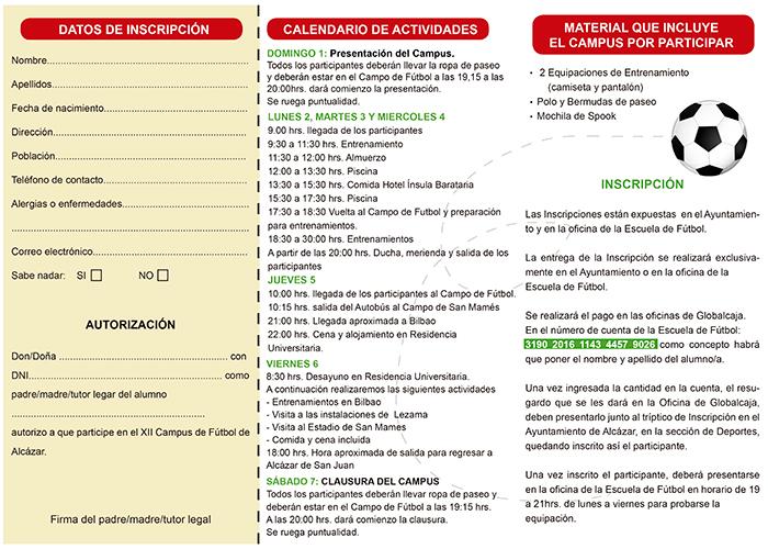 Abierta la inscripción del XIII Campus de Futbol de Alcázar de San Juan