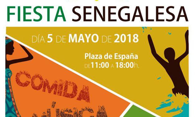 Fiesta senagelesa en la Plaza de España el día 5 de Mayo