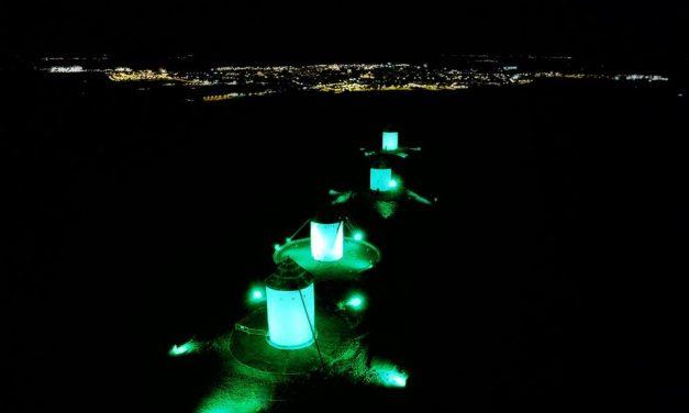 Los molinos de viento se iluminarán de verde el día 21 por el Día Mundial del ELA