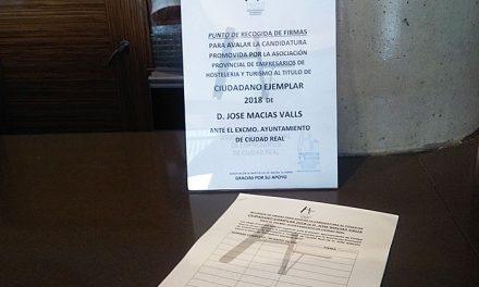 La Asociación Provincial de Empresarios de Hosteleria y Turismo promueve la candidatura de José Macías Valls a Ciudadano Ejemplar 2018