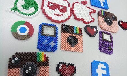 Los 'hama beads' han inaugurado los talleres de manualidades infantiles del Centro de Internet