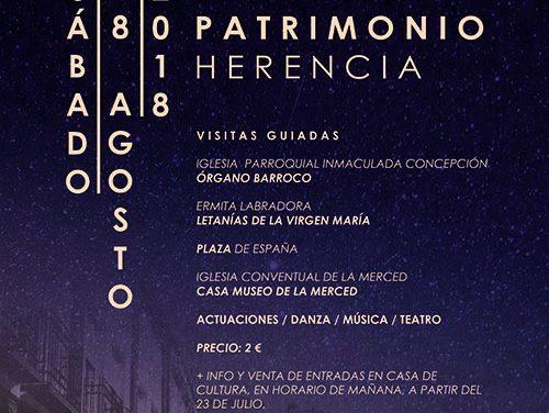 Herencia apuesta por el turismo con la celebración de la Noche del Patrimonio
