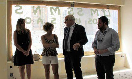 Julián Nieva visitó la obra de la nueva televisión municipal, que comenzará a emitir en dos meses
