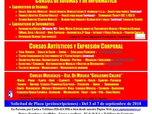 Amplia, diversa y según los intereses y demandas de la ciudadanía: así es la oferta del nuevo curso de la Universidad Popular