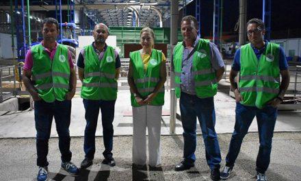 Pruden Medina inicia una ronda de visitas por las bodegas de Socuéllamos con motivo del inicio de la campaña de la vendimia