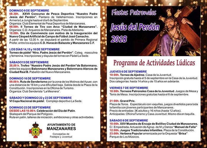 Más de 40 actividades componen el programa de Festejos de las fiestas en honor a Nuestro Padre Jesús del Perdón