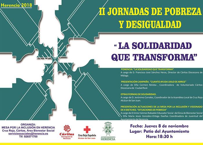 """Bajo el lema """"La Solidaridad que Transforma"""" se presentan II Jornadas de Desigualdad y Pobreza"""