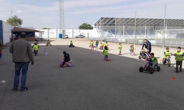 Gymkana de seguridad vial con el alumnado de infantil