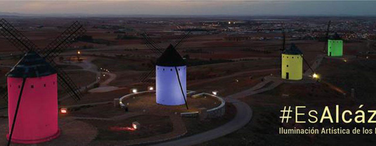 Los Molinos de Alcázar de san Juan se iluminaran de color rojo para conmemorar el día mundial del SIDA que se celebra el uno de diciembre