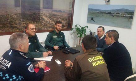 Herencia potencia la coordinación de Guardia Civil, Policía Local y Guardería Rural para las labores de vigilancia en el campo
