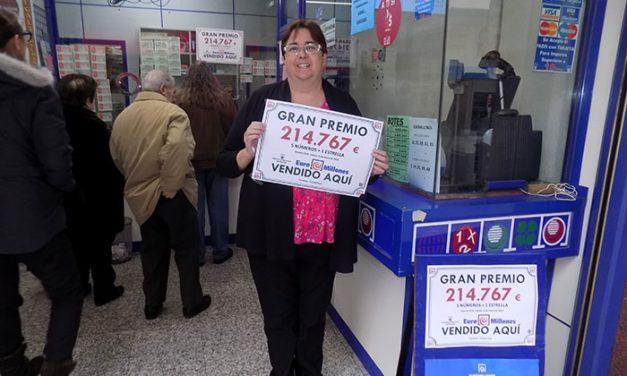 Un acertante gana 214.767 euros con un boleto de Euromillones sellado en la Administración de Loterías Carmona de Ciudad Real
