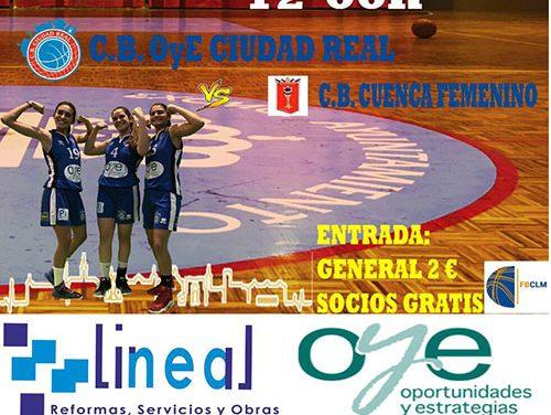 Club Baloncesto OyE Ciudad Real busca una victoria ante el C. B. Cuenca Femenino