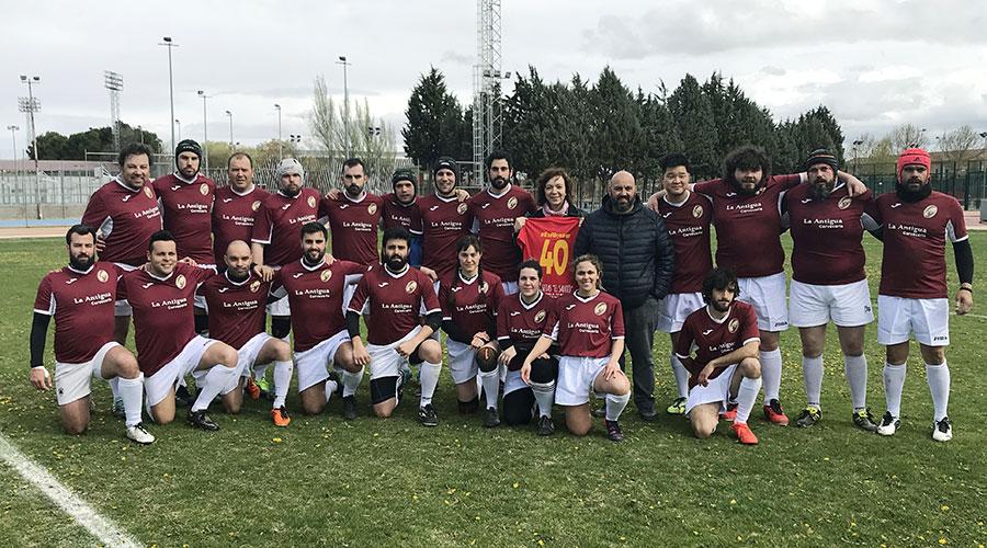 """El equipo de rugby 15 """"Gigantes de La Mancha"""" debutó el pasado fin de semana contra """"Arlequines"""""""