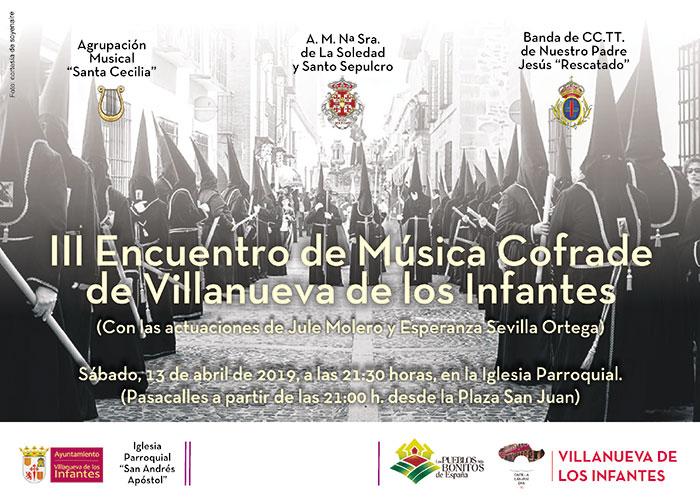 Poesía, pintura y música cofrade marcan la agenda cultural para este fin de semana en Villanueva de los Infantes