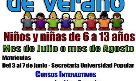 La UP convoca su escuela infantil de verano para los meses de julio y agosto