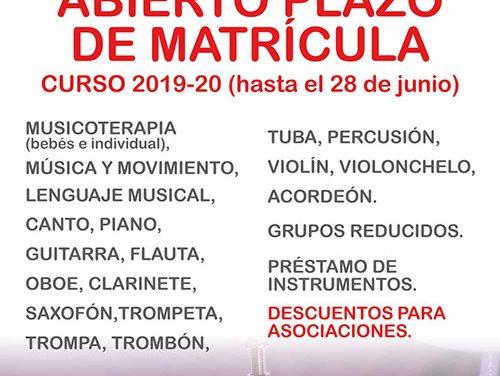 La Escuela Municipal de Música abre el plazo de matrícula con una amplia oferta de formación