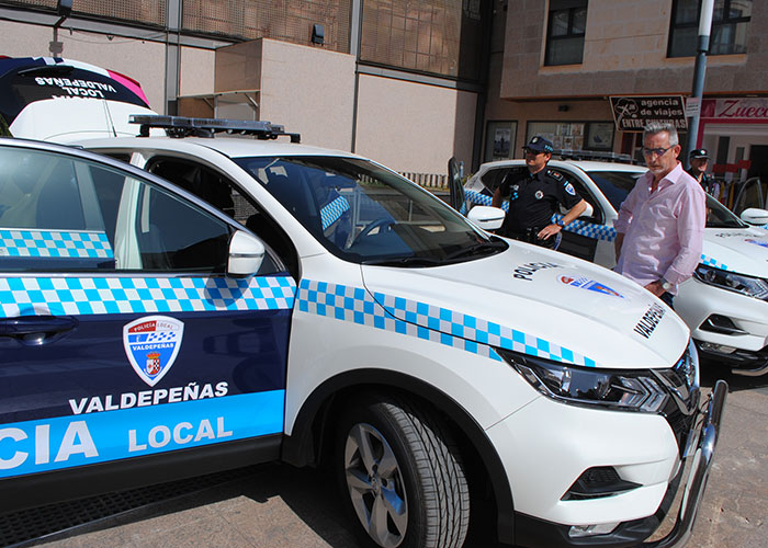 La Policía Local de Valdepeñas renueva dos patrullas de su flota de vehículos