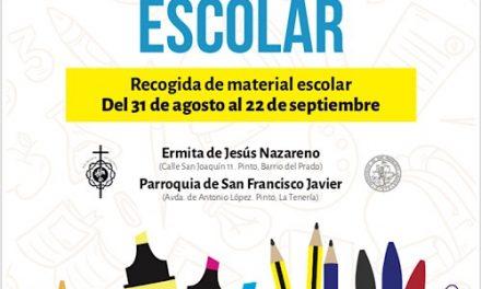 La Hermandad de Jesús Nazareno de Pinto lanza la campaña 'Ningún niño sin material escolar'