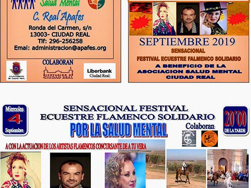 El 4 de septiembre, en la plaza de toros, gran espectáculo ecuestre – flamenco a beneficio de Apafes