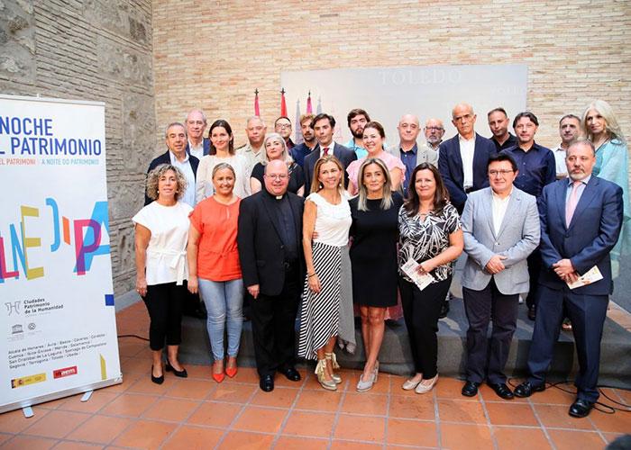 """Milagros Tolón destaca que las más de 40 propuestas gratuitas de 'La Noche del Patrimonio' hacen de Toledo """"una ciudad única"""""""