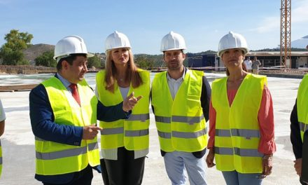 El alcalde destaca que la construcción del Palacio de Deportes Olivo Arena «refuerza la capitalidad» de Jaén y la convierte en una ciudad «más competitiva»