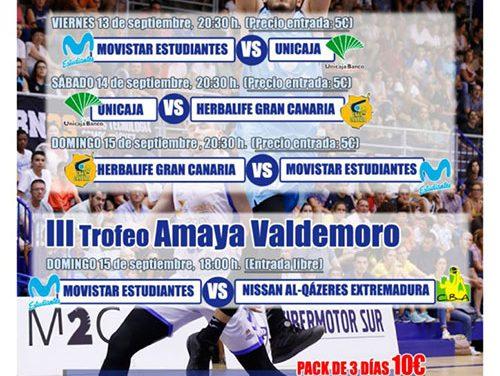 El polideportivo Juan de la Cierva acogerá este fin de semana el Torneo de Baloncesto ACB 'Ciudad de Getafe'