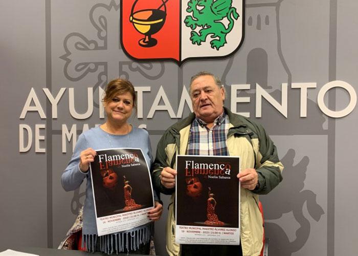 El teatro de Martos acoge el espectáculo 'Flamenco, flamenca'  a cargo de la bailaora andaluza Noelia Sabarea