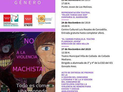 """Teatro y formación por el Día para la eliminación de la Violencia contra la Mujer en la Mancomunidad """"La Maliciosa"""""""