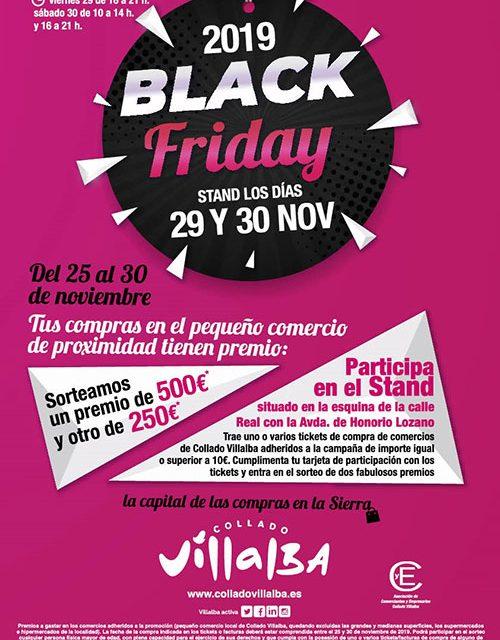 """El Ayuntamiento de Collado Villalba presenta la campaña de promoción comercial """"Black Friday"""""""