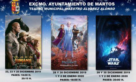 Cartelera de cine durante la Navidad 2019-2020 en Martos