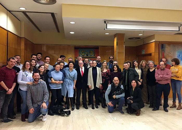 Pilar Zamora desea felices fiestas a los periodistas y subraya el esfuerzo por seguir haciendo una Ciudad Real mejor