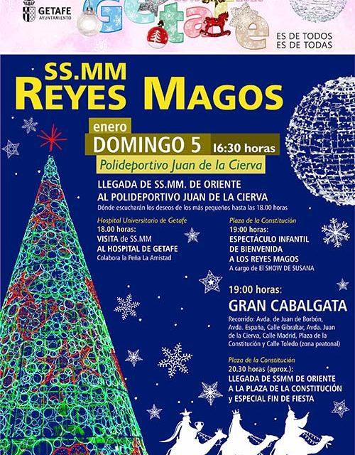 Los Reyes Magos llegarán en helicóptero al polideportivo Juan de la Cierva