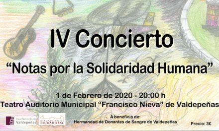 A la venta las entradas del IV Concierto 'Notas por la Solidaridad Humana' en Valdepeñas