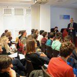 El Colegio de Ingenieros de Caminos acerca a los estudiantes de la UCLM su labor diaria y las ventajas de ser colegiado