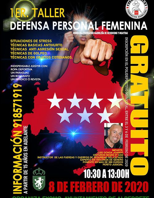 Taller de defensa personal femenina en Alpedrete