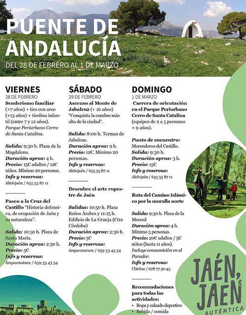 El Ayuntamiento de Jaén ofrece un Puente de Andalucía cargado de naturaleza para conocer el entorno paisajístico de la capital