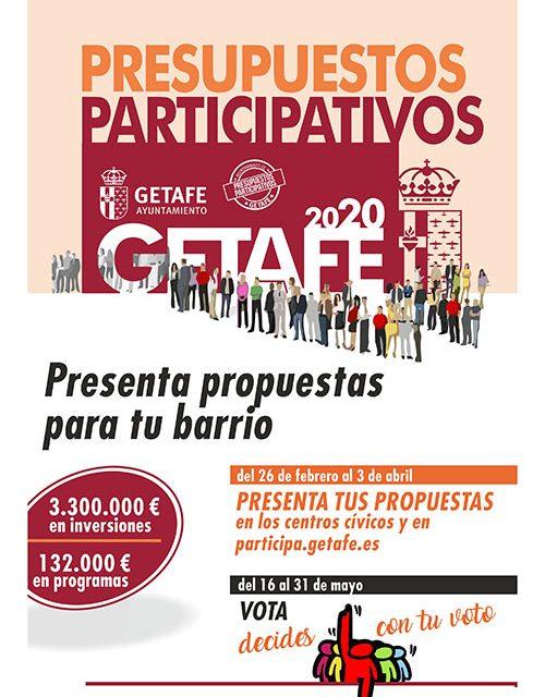 El Ayuntamiento de Getafe pone en marcha los Presupuestos Participativos 2020