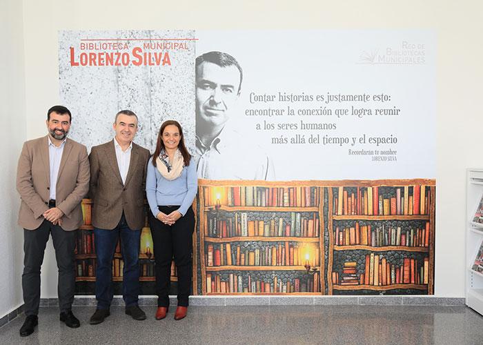 Lorenzo Silva inauguró la biblioteca que lleva su nombre en Getafe Norte
