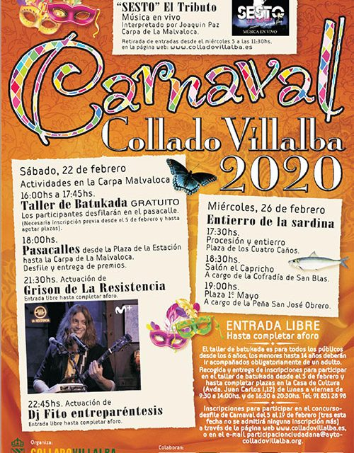 Abierto el plazo de inscripción para el desfile de Carnaval de Collado Villalba