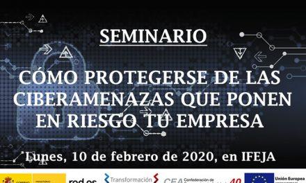El próximo 10 de febrero, interesante seminario sobre la protección de las ciberamenazas en las empresas