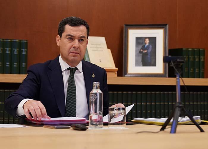 Moreno pide a Sánchez agilizar la distribución del material sanitario y los tests de detección para el coronavirus