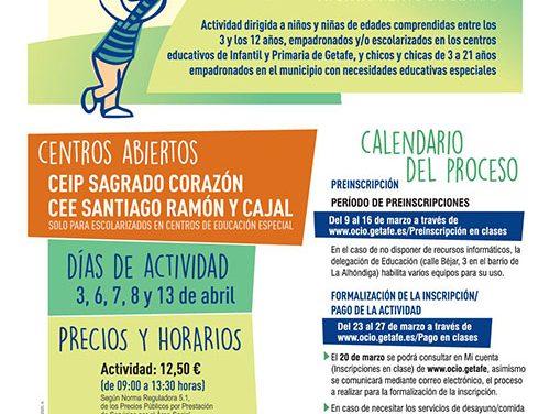 El Ayuntamiento de Getafe organiza el proyecto 'Jugamos por el planeta' para facilitar la conciliación de las familias en Semana Santa