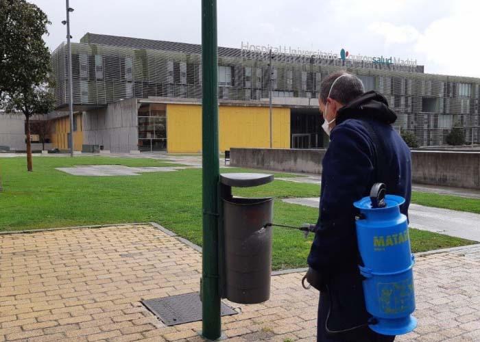 El Ayuntamiento de Pozuelo continúa con la limpieza diaria de desinfección en calles y mobiliario urbano de la ciudad