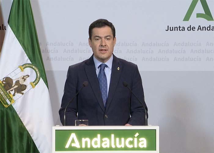 Moreno garantiza a Sánchez la lealtad de Andalucía y apela a la necesidad de preparar un plan para el cierre de fronteras