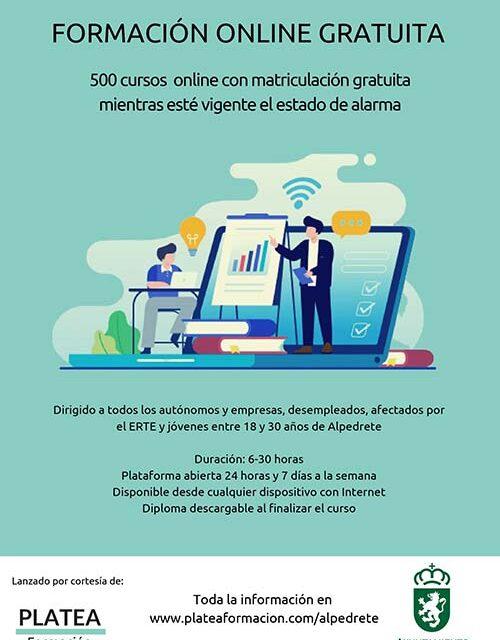 El Ayuntamiento de Alpedrete ofrece formación online gratuita para los vecinos durante el estado de alarma