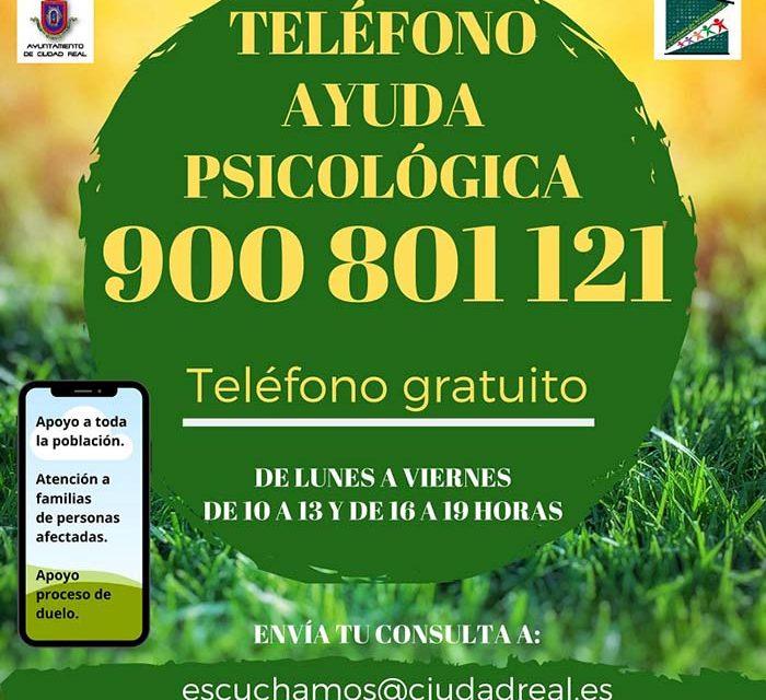 Hoy comienza a prestar servicio la línea de atención psicológica gratuita 900 801 121