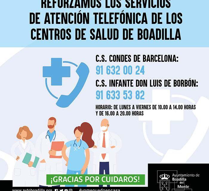 El Ayuntamiento de Boadilla colabora con los centros de salud reforzando su servicio de atención telefónica