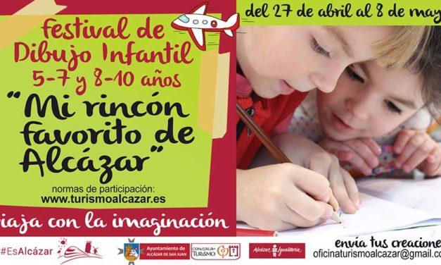 "Turismo  de Alcázar de San Juan convoca el Festival de Dibujo Infantil ""Mi Rincón Favorito de Alcázar"""