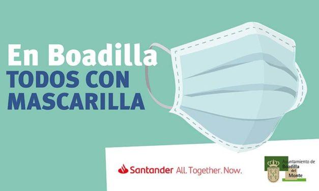 Boadilla repartirá entre sus vecinos 100.000 mascarillas donadas por el Banco Santander
